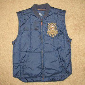 Polo Ralph Lauren Zip Up Vest Large Blue NYC PRL